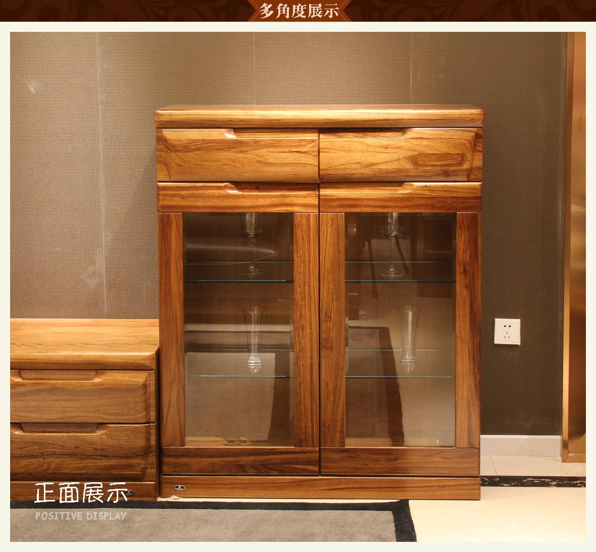 赖氏家具 乌金木厅柜(矮柜)wjk03c型号 进口实木 现代