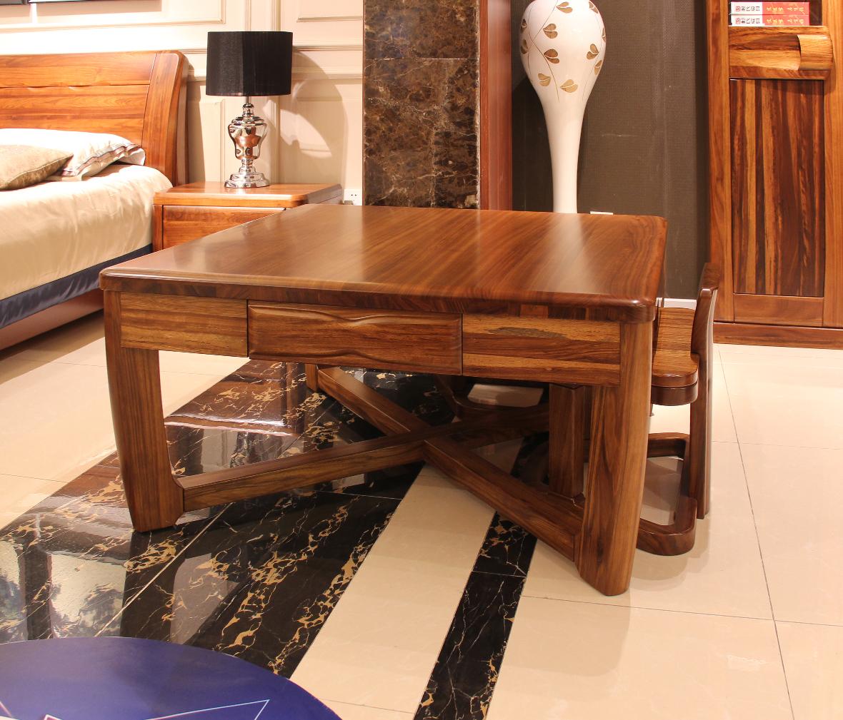 伯爵庄园 原7521—10型号美式古典实木长形餐桌 百年工艺打造图片