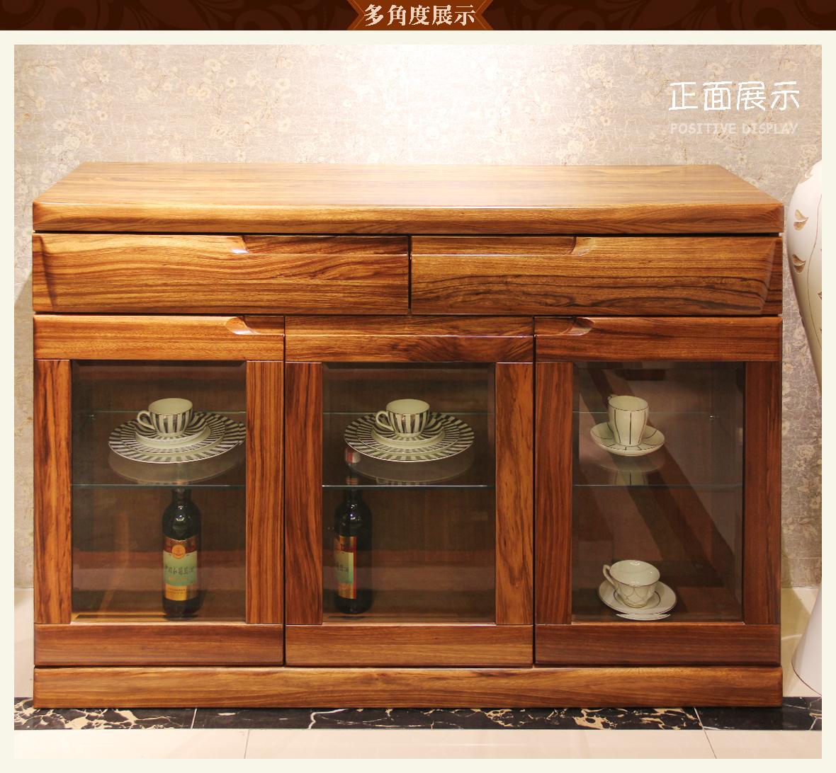 赖氏家具 乌金木餐边柜wjy02型号 进口实木 现代简约