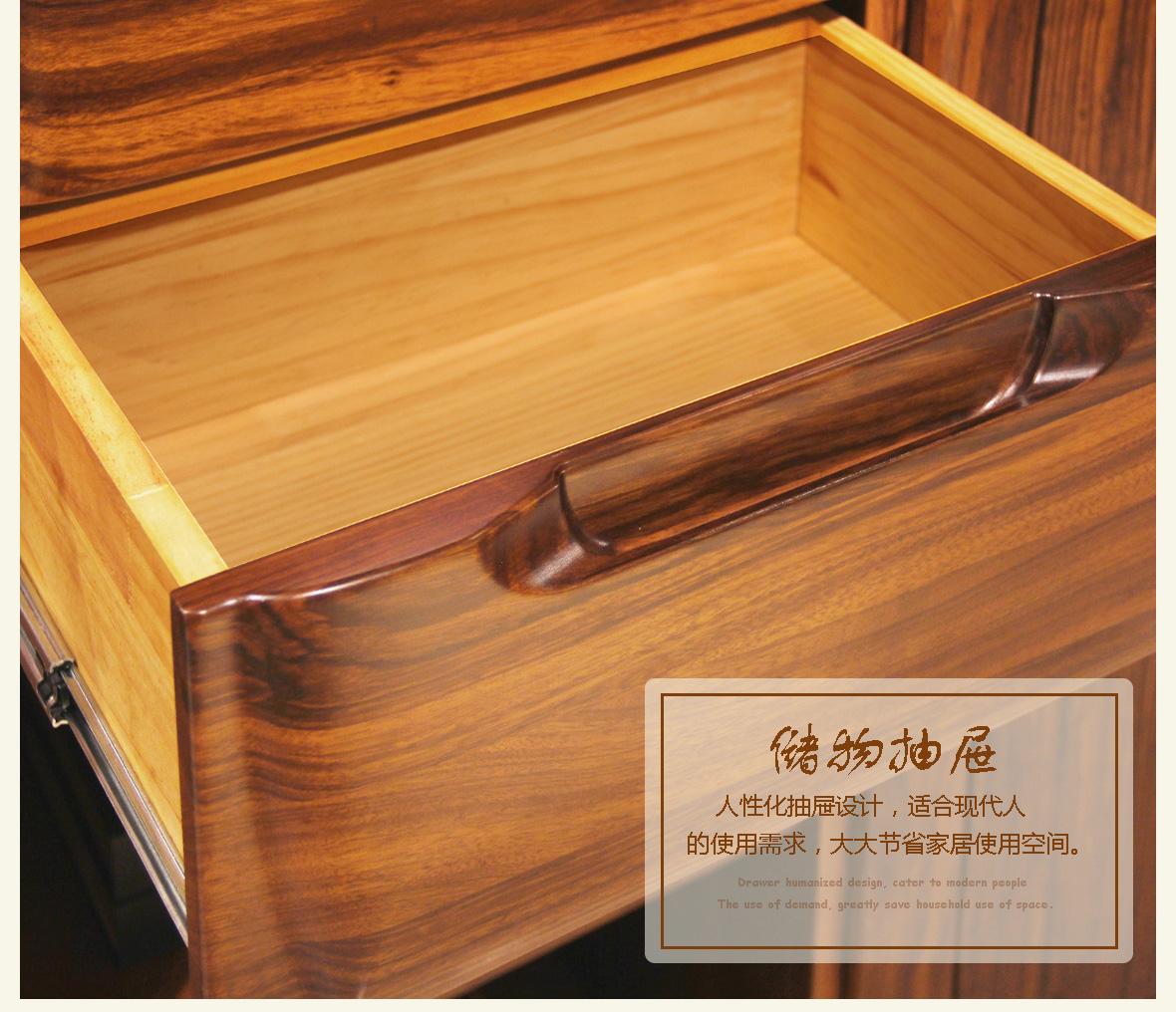 赖氏书柜转角木乌金型号WJE02家具v书柜实木家具哪去买深圳图片