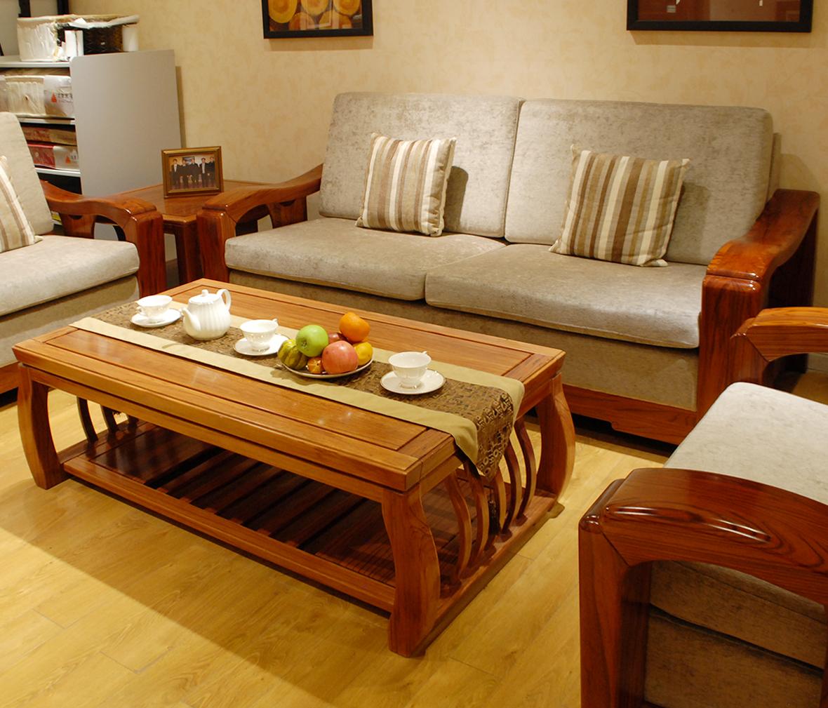 天坛家具 北欧系列 ac1701c.型号 三人沙发 非洲红翅木 现代简约图片