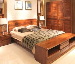 赖氏家具,双人床,床