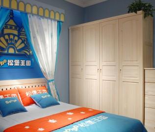 松堡王国,四门衣柜,儿童家具