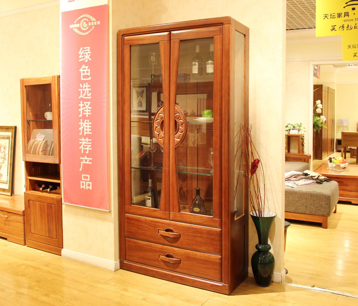 迦南橄榄树 6601-wg下型号 酒柜下柜 实木板材 榫卯结构 欧式风格