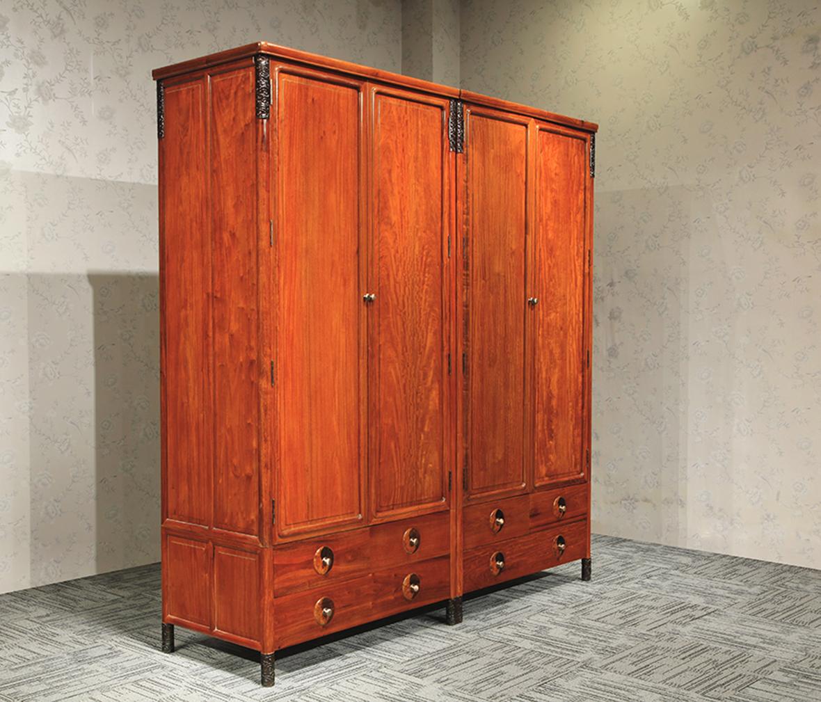 现代简约风格  眼缘:0  钛马迪 kt96型号推拉衣柜180 胡桃木材质衣柜