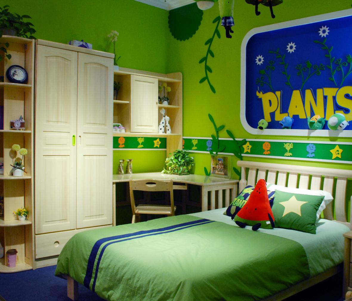 欧式绿色主题卧室