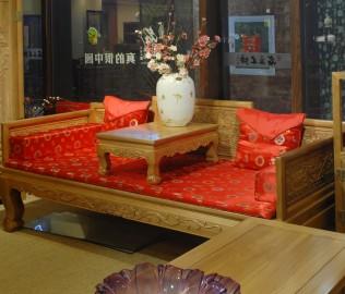 罗汉床,名匠木坊,榆木材质