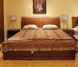 天坛家具,双人床,床架