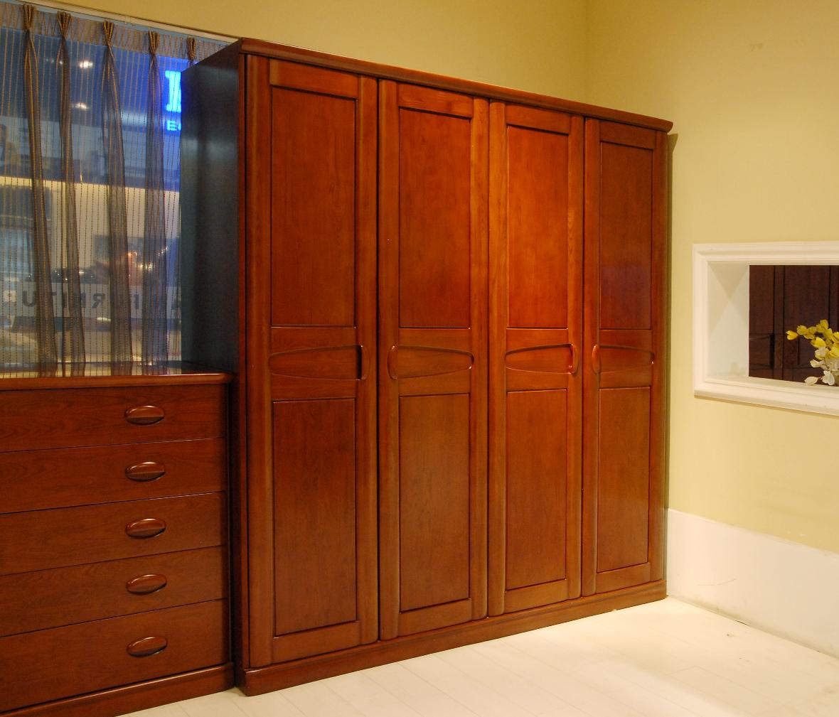 卧室系列  眼缘:0  赖氏家具 乌金木四门衣柜wja02型号 进口实木 现代