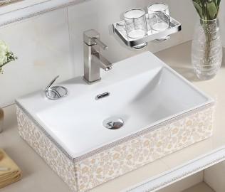 丰华卫浴,双杯架,铜镀铬