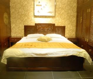 兰鼎犀,双人床,床架