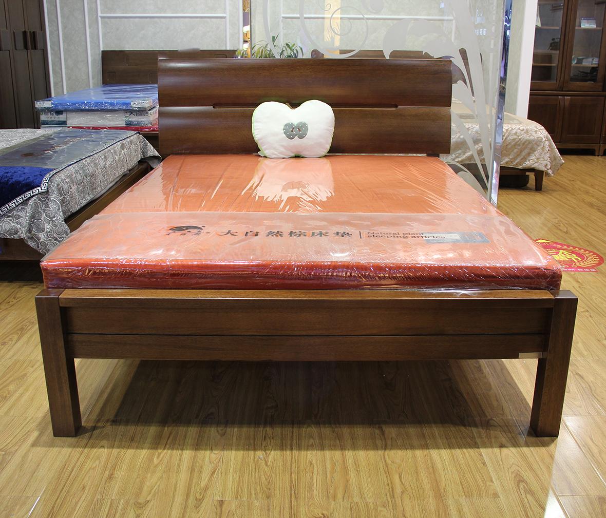 榄仁木框架 梧桐木板床图片