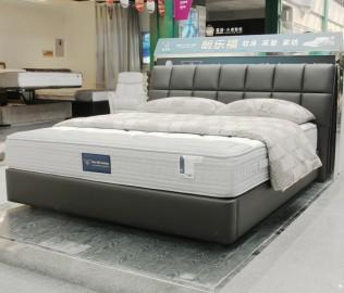 朗乐福,床架,皮床