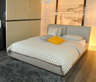 思利明兰,床架,布艺床