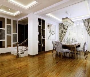 必美地板,实木复合,胡桃木