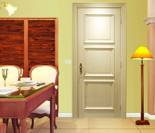 益圆木门,实木复合,室内门