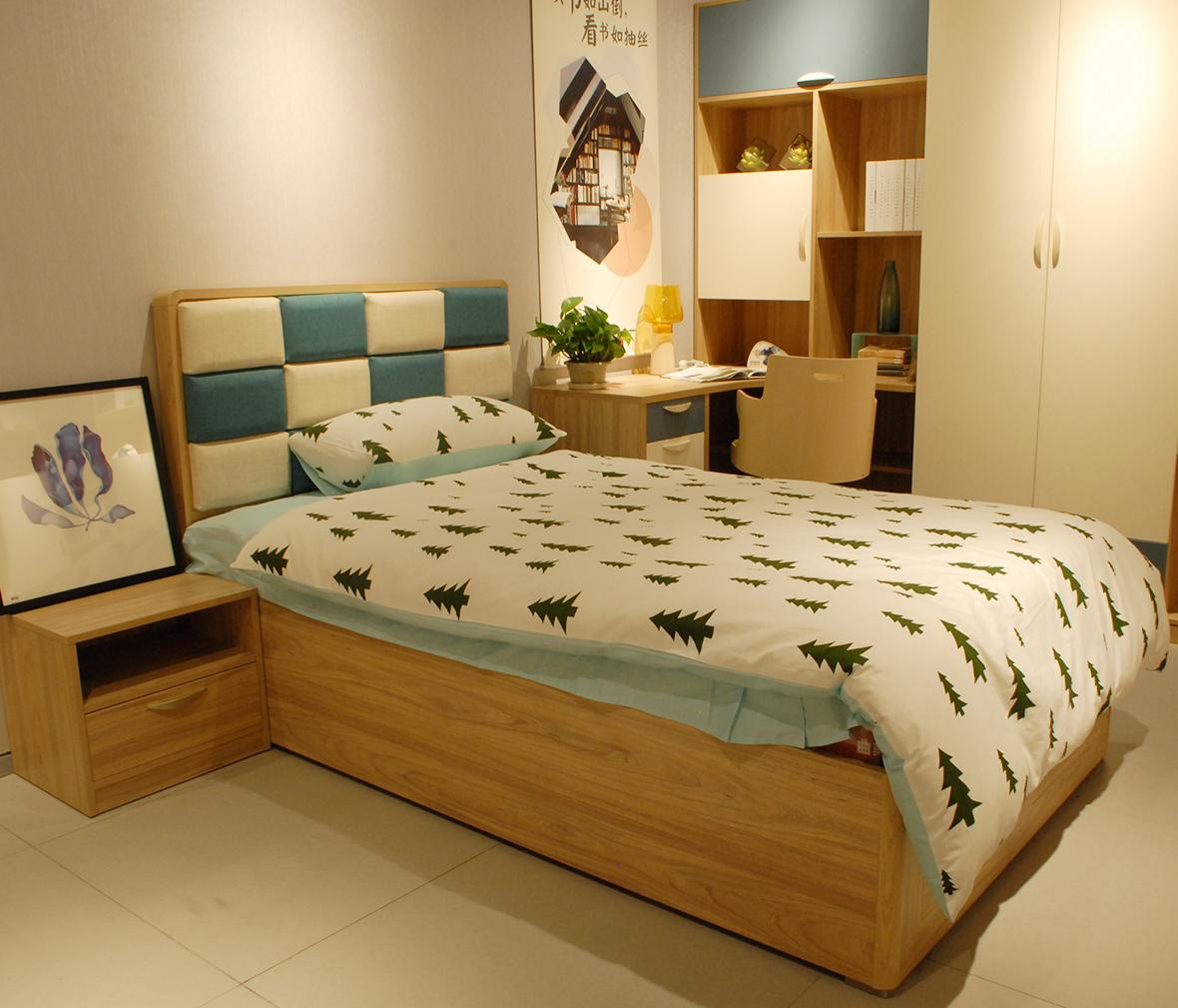 欧式床 实木颗粒板图片