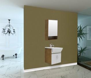 欧贝尔,浴室柜,橡胶木