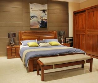 京通光明,实木家具,床头柜