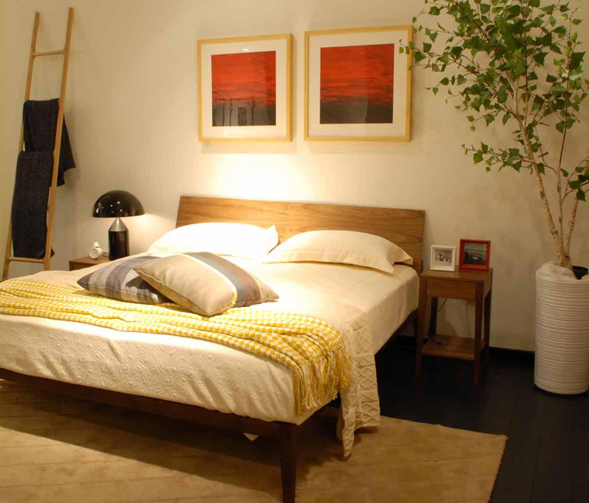 赖氏家具家具木床头柜WJO02友邦v家具实木杜景安吉型号乌金图片