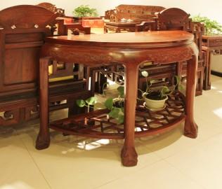 金启元,半圆桌,花梨木