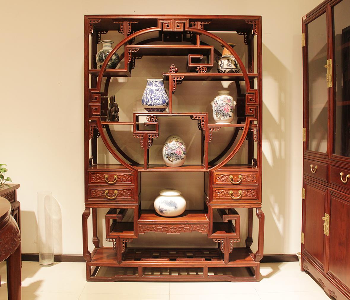真盏堂 美盈家居 文锦柜 柜子 展示柜 花梨木 中式古典