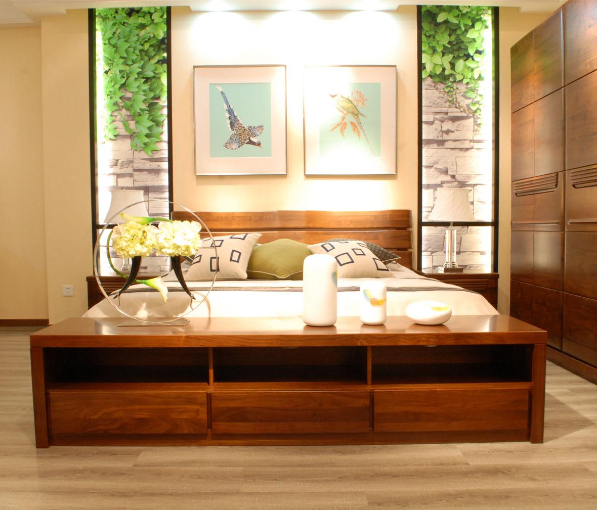 江南宜家 中组柜 htl1201-2型号 北美黑胡桃木 实木家具图片