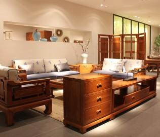 一品木阁,实木家具,电视柜