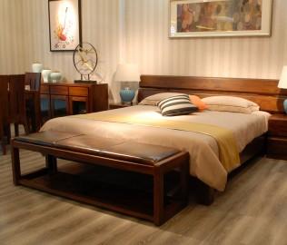 江南宜家,床尾凳,实木家具