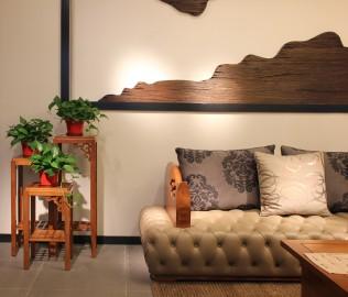 一品木阁,实木家具,花架