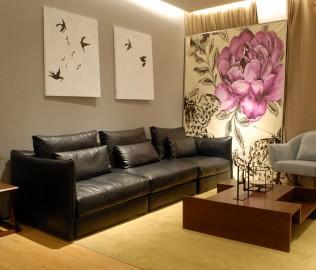 光禾梵度,沙发,黑胡桃木
