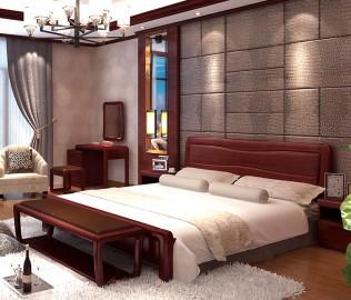 光明家具,中式家具,双人床