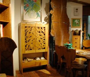 琢木家具,实木家具,多用柜