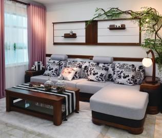 双叶,沙发,水曲柳