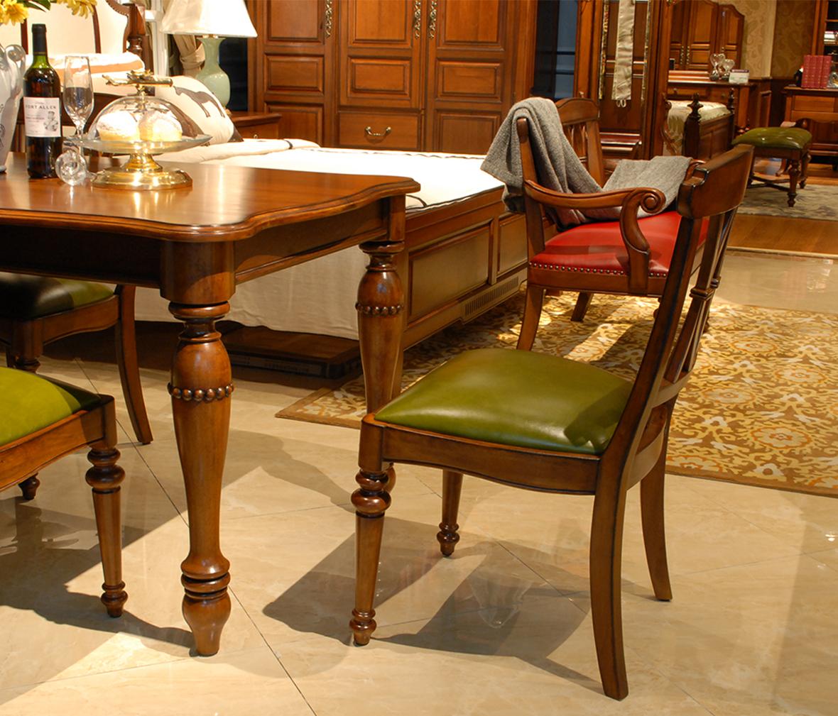 赖氏型号甲醛木家具WJI01乌金纯实木现代简水曲柳吗有餐椅实木家具图片