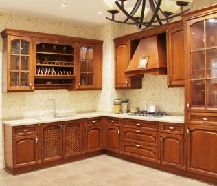 勒嘉橱柜,地柜,板木结合