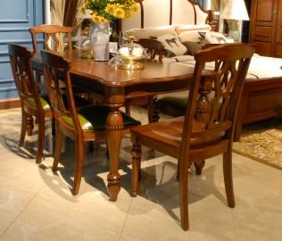 北卡罗,实木家具,餐椅
