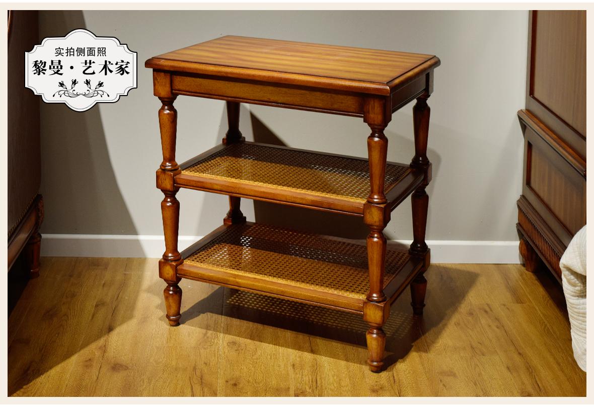 黎曼·艺术家 LM-A25型号实木床边柜 美国优质樱桃木 商品实拍