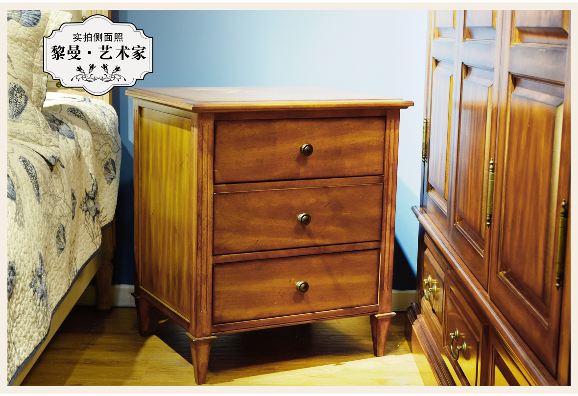 黎曼·艺术家 LM-A24型号实木床边柜 美国优质樱桃木 商品实拍