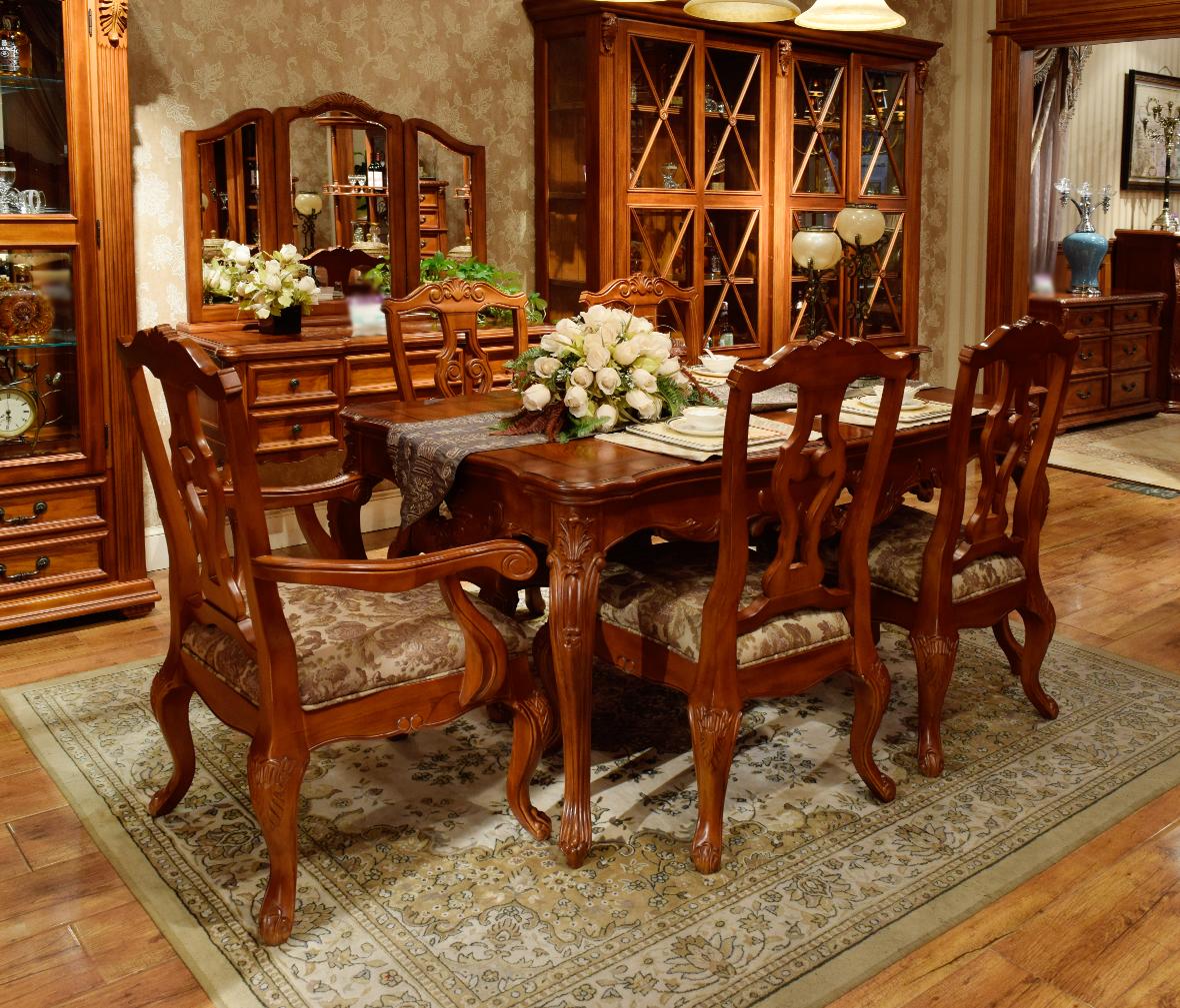 x7511-21型号美式古典实木扶手餐椅 百年工艺打造  眼缘:0  赖氏家具图片