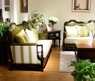 黎曼,实木家具,双人沙发