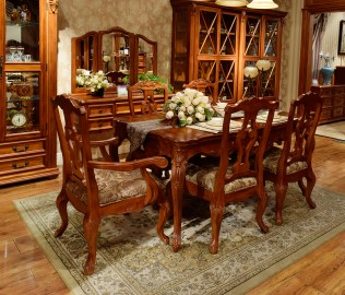 伯爵庄园,餐桌,实木家具