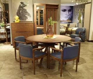 钛马迪,圆餐桌,餐厅家具