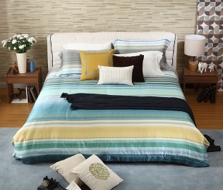 曲美家具,双人床,床