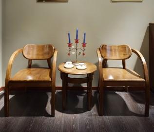 摩纳戈,休闲椅,实木椅