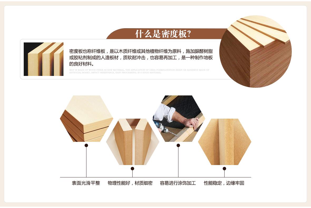 德合家地板 4288型号舒逸强化复合地板 材质