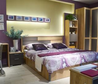 飞美,床头柜,刨花板