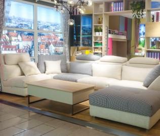 飞美,布艺沙发,白松框架