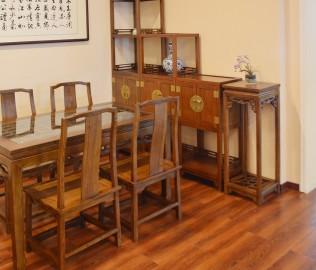 瀚明轩,花架,榆木家具