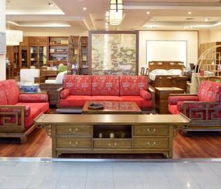瀚明轩,电视柜,榆木家具